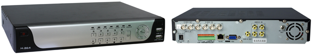 4 Channel DVR with 320GB HD (Call for optional HDD)