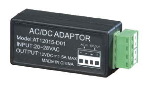 Detachable input/output connector 12VDC output at 1.5A